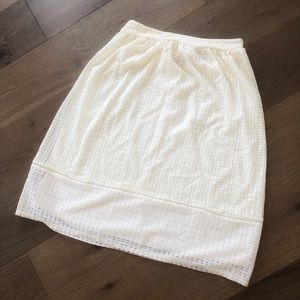 Cream lace a line skirt